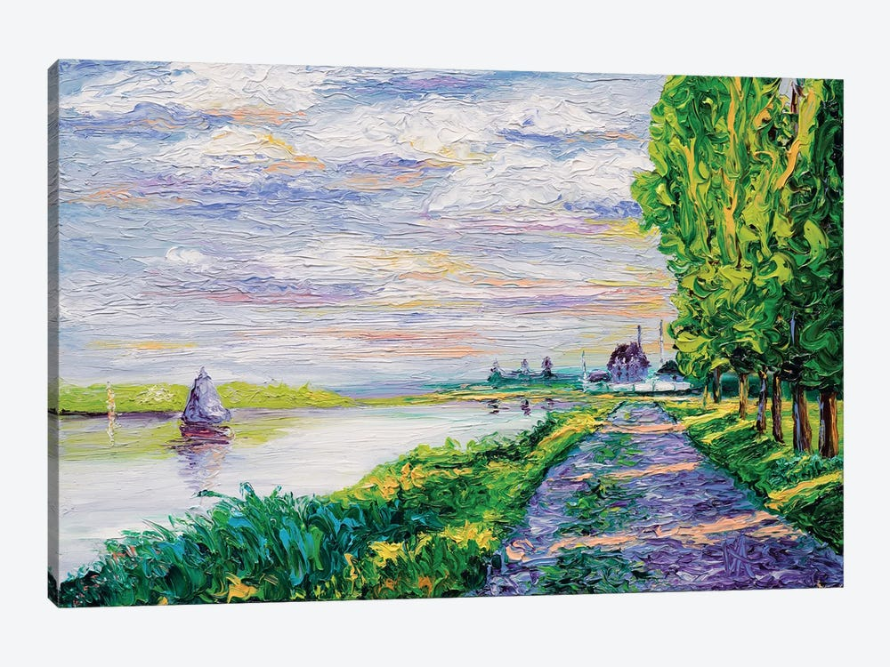 Afternoon Light (Tribute To Monet) by Kimberly Adams 1-piece Canvas Art
