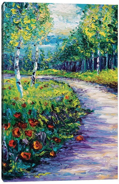 Radiant Path Canvas Art Print