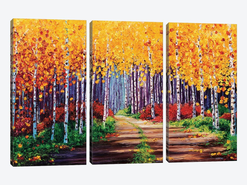 Traversing by Kimberly Adams 3-piece Canvas Print