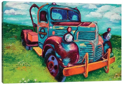 Tribute Truck Canvas Art Print