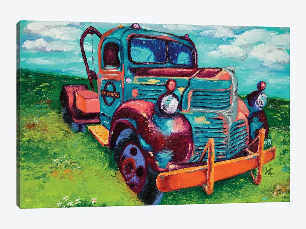 Tribute Truck by Kimberly Adams 1-piece Canvas Wall Art