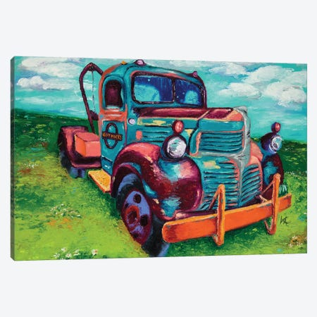 Tribute Truck Canvas Print #KIM26} by Kimberly Adams Canvas Artwork