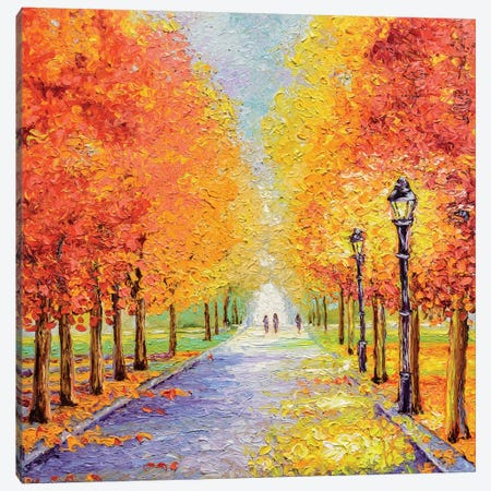 Autumn Lights Canvas Print #KIM2} by Kimberly Adams Canvas Art