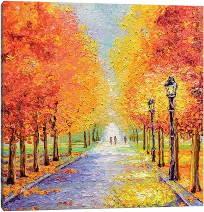 Autumn Lights Canvas Art Print