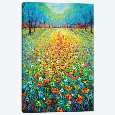 Wild Flowers Canvas Print #KIM34} by Kimberly Adams Canvas Art Print