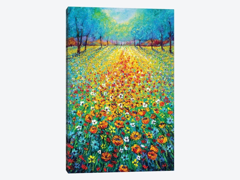 Wild Flowers 1-piece Canvas Print