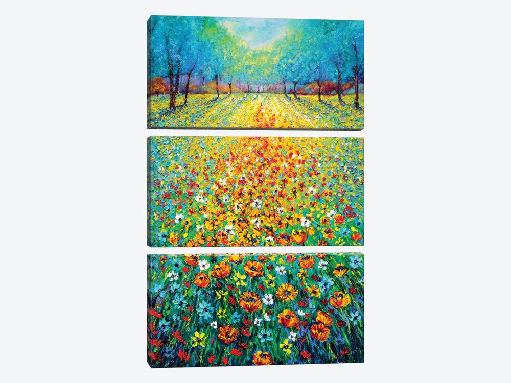 Wild Flowers by Kimberly Adams 3-piece Art Print