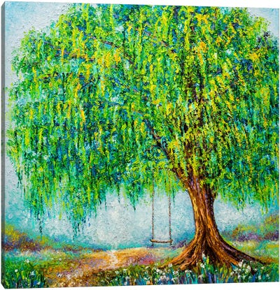 Under The Willow Tree Canvas Art Print