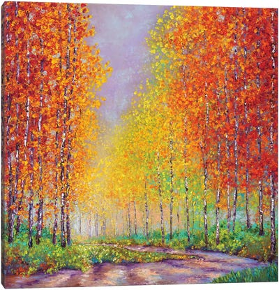 Aspens In Autumn Canvas Art Print