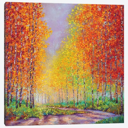 Aspens In Autumn Canvas Print #KIM47} by Kimberly Adams Canvas Art