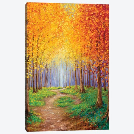 Autumn Escape Canvas Print #KIM48} by Kimberly Adams Canvas Art Print