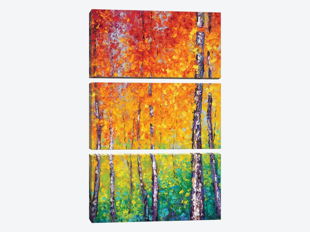 Autumn Evolution by Kimberly Adams 3-piece Art Print