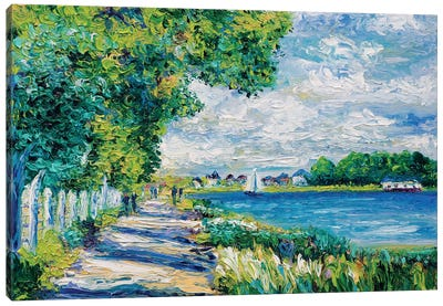 By The Sea (Tribute To Monet) Canvas Art Print