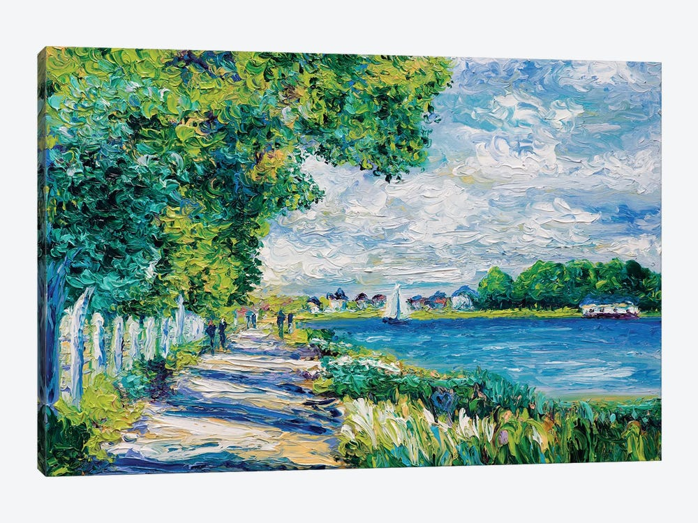 By The Sea (Tribute To Monet) by Kimberly Adams 1-piece Canvas Print