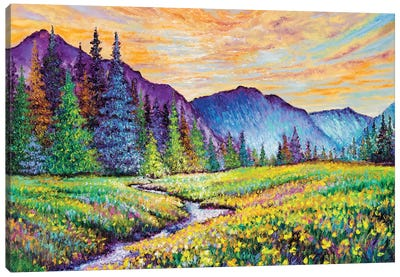 Mountain Sunrise Canvas Art Print