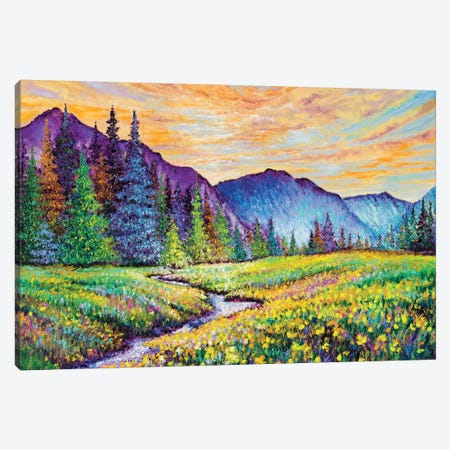 Mountain Sunrise Canvas Print #KIM53} by Kimberly Adams Canvas Artwork