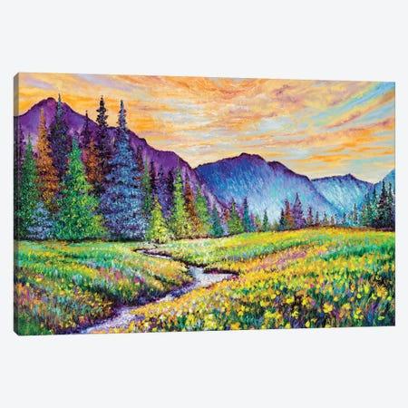 Mountain Sunrise Canvas Print #KIM53} by Kimberly Adams Canvas Artwork
