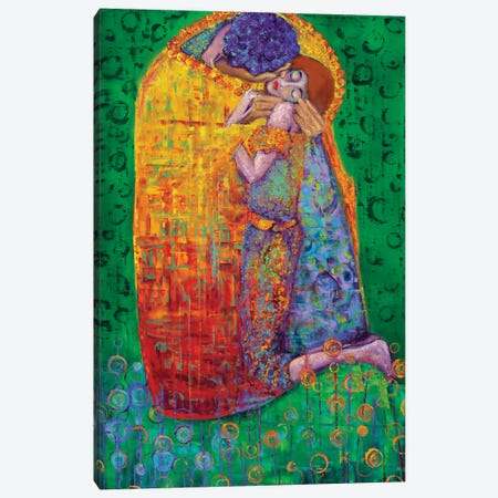 In The Manor Of Klimt - The Kiss Canvas Print #KIM57} by Kimberly Adams Canvas Art Print