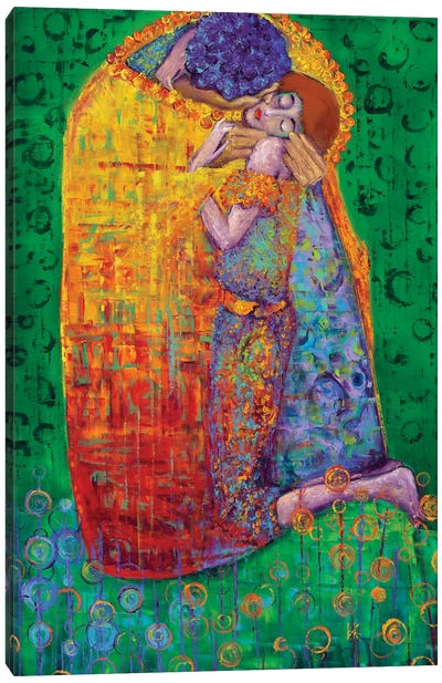 In The Manor Of Klimt - The Kiss Canvas Art Print