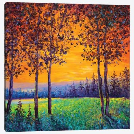 Sunset Canvas Print #KIM62} by Kimberly Adams Canvas Art Print