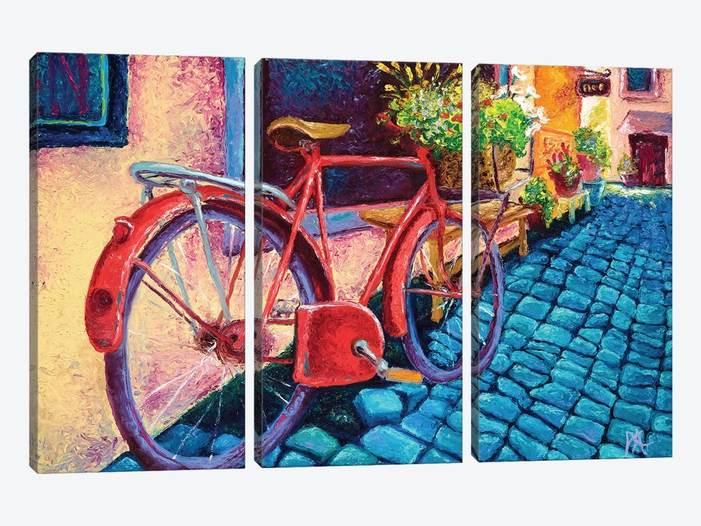 Cobblestone Path 3-piece Canvas Art Print