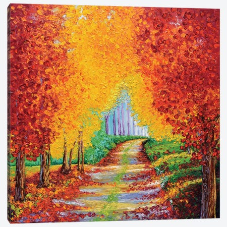 Crimson Pathway Canvas Print #KIM7} by Kimberly Adams Canvas Art Print
