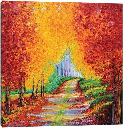 Crimson Pathway Canvas Art Print
