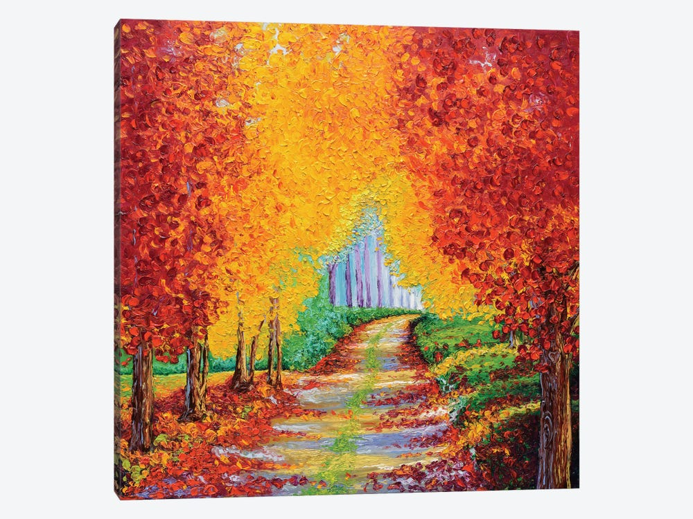 Crimson Pathway by Kimberly Adams 1-piece Canvas Art