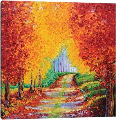 Crimson Pathway Canvas Art Print
