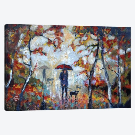 A Kiss In The Park Canvas Print #KIP100} by Kip Decker Canvas Print