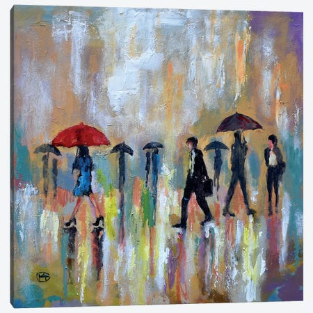 Red Umbrella Canvas Print #KIP103} by Kip Decker Canvas Print