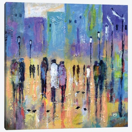 Uptown After 7 3-Piece Canvas #KIP105} by Kip Decker Canvas Art