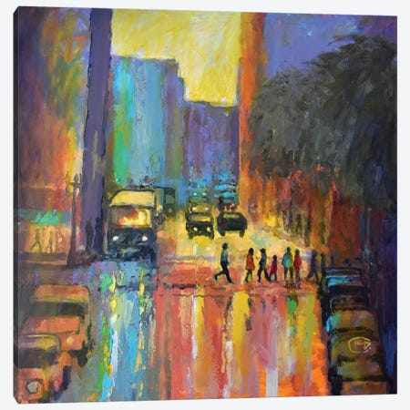 City Crosswalk I Canvas Print #KIP10} by Kip Decker Canvas Art Print