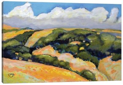 Clouds On Summer Hills Canvas Art Print