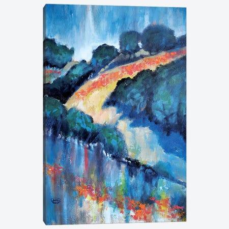 Hillside Poppies 3-Piece Canvas #KIP124} by Kip Decker Canvas Art