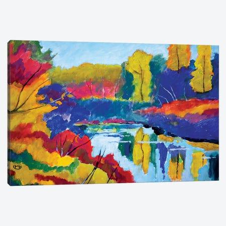 Upstate Pond Canvas Print #KIP130} by Kip Decker Canvas Art