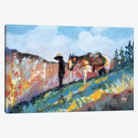 Looking Toward The Canyon Canvas Print #KIP139} by Kip Decker Canvas Wall Art