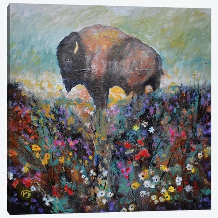 Spring Prairie Canvas Print #KIP145} by Kip Decker Canvas Art
