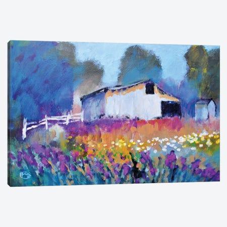 Barn With Iris II Canvas Print #KIP157} by Kip Decker Canvas Print
