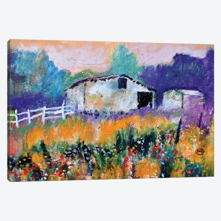 Old White Barn II Canvas Print #KIP158} by Kip Decker Canvas Wall Art