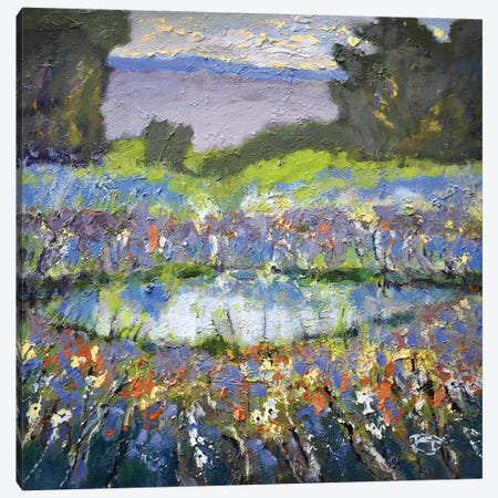Foothills Pond Canvas Print #KIP16} by Kip Decker Canvas Artwork
