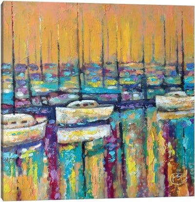 Harbor Sunrise Canvas Art Print
