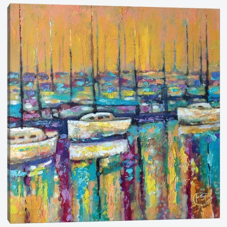 Harbor Sunrise Canvas Print #KIP17} by Kip Decker Canvas Wall Art