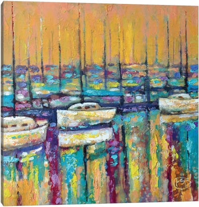 Harbor Sunrise Canvas Print #KIP17