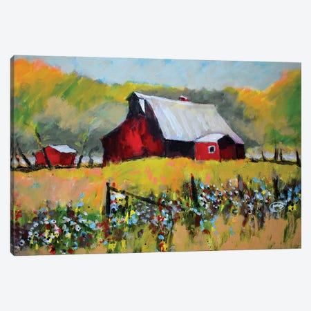 Farm Red Canvas Print #KIP193} by Kip Decker Canvas Art
