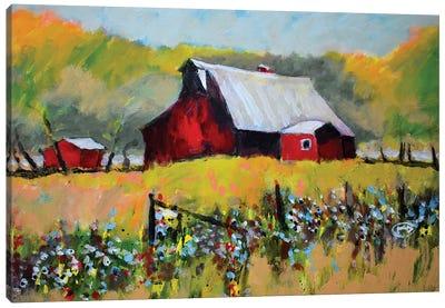 Farm Red Canvas Art Print