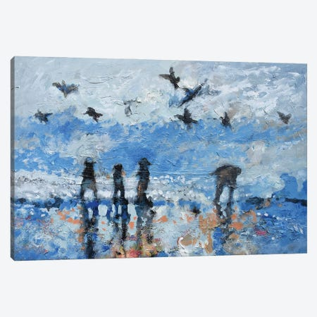 Exploring The Beach Canvas Print #KIP204} by Kip Decker Canvas Art Print