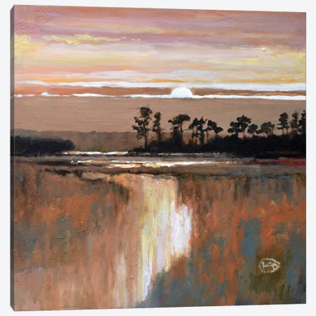 Low Country Moonrise Canvas Print #KIP24} by Kip Decker Canvas Print