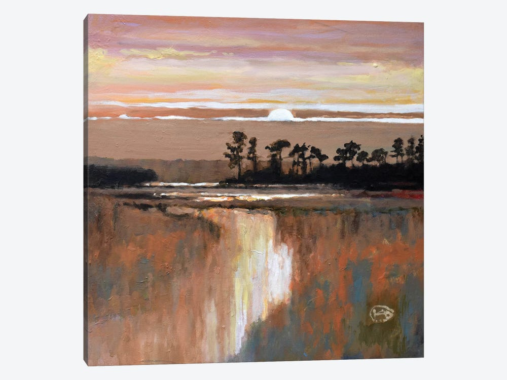 Low Country Moonrise 1-piece Canvas Artwork