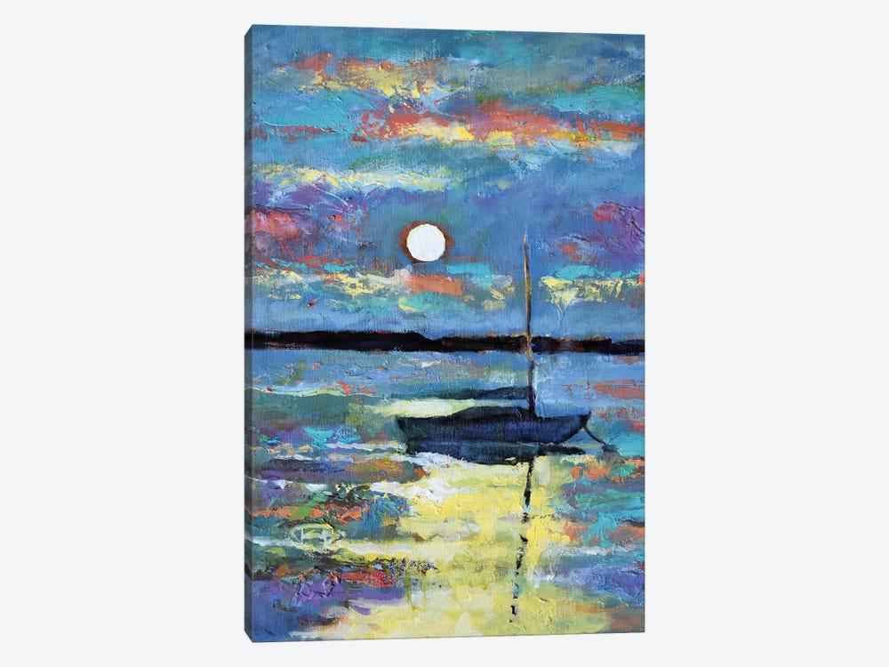 Moon Over A Sailboat by Kip Decker 1-piece Canvas Art Print